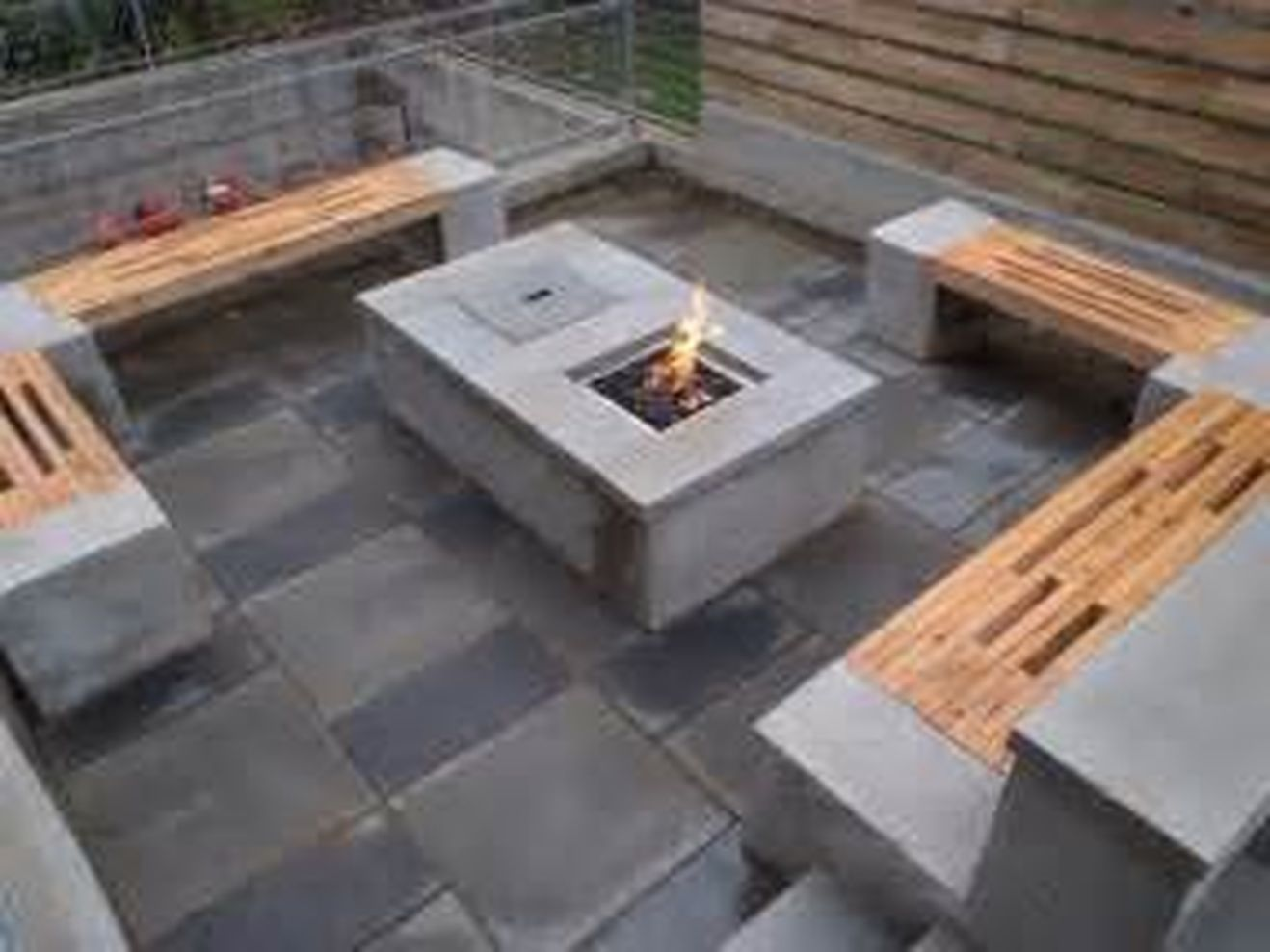 Cinder block furniture backyard 05