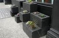 Cinder block furniture backyard 09