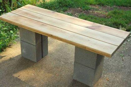 Cinder block furniture backyard 11