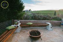 Cinder block furniture backyard 17