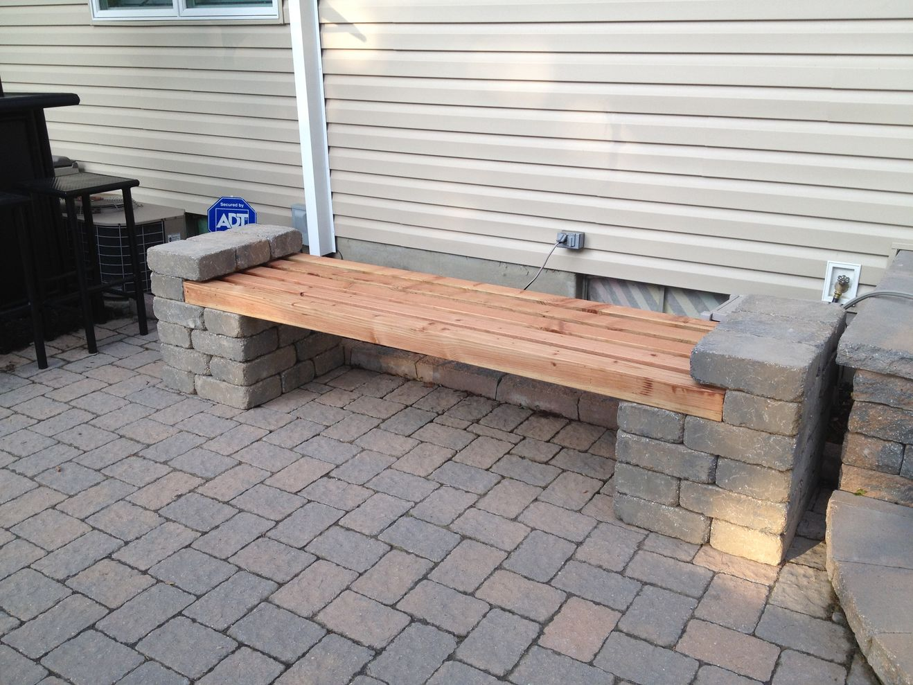 Cinder block furniture backyard 18