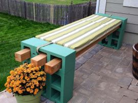 Cinder block furniture backyard 20