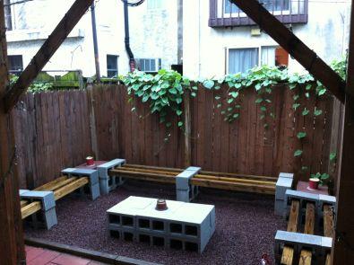 Cinder block furniture backyard 24