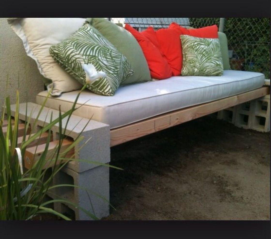 Cinder block furniture backyard 28