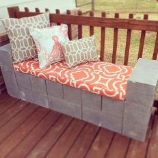 Cinder block furniture backyard 35
