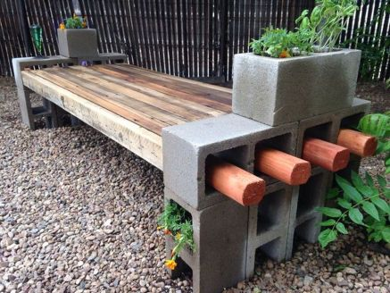 Cinder block furniture backyard 42