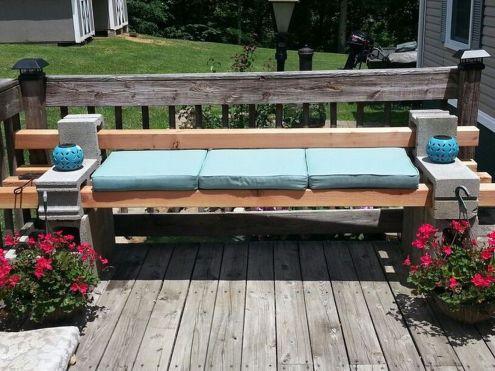 Cinder block furniture backyard 48
