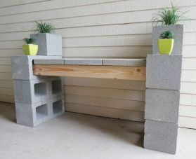 Cinder block furniture backyard 58