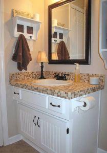 Cool bathroom counter organization ideas 05