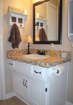 Cool bathroom counter organization ideas 05