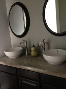 Cool bathroom counter organization ideas 11