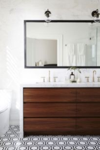 Cool bathroom counter organization ideas 14