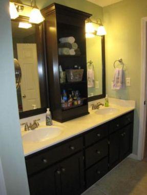 Cool bathroom counter organization ideas 24