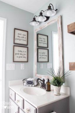 Cool bathroom counter organization ideas 27