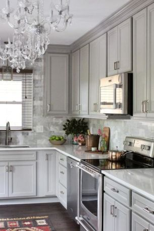 Cool grey kitchen cabinet ideas 06