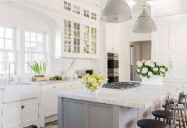 Cool grey kitchen cabinet ideas 12