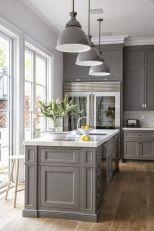 Cool grey kitchen cabinet ideas 18
