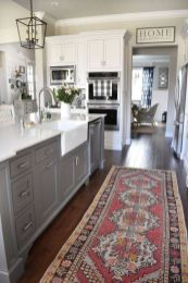 Cool grey kitchen cabinet ideas 24