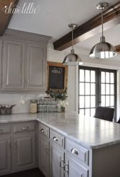 Cool grey kitchen cabinet ideas 28