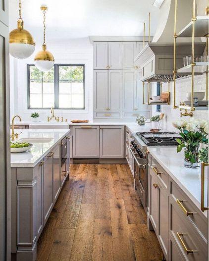 Cool grey kitchen cabinet ideas 40