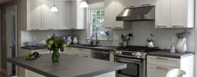 Cool grey kitchen cabinet ideas 42