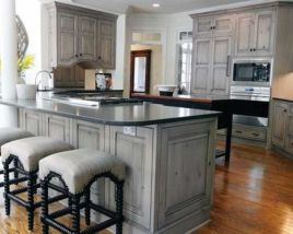 Cool grey kitchen cabinet ideas 51