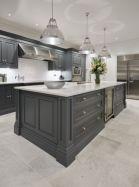 Cool grey kitchen cabinet ideas 52