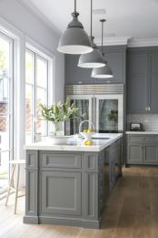 Cool grey kitchen cabinet ideas 72