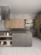 Cool grey kitchen cabinet ideas 73