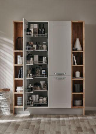 Cool grey kitchen cabinet ideas 75