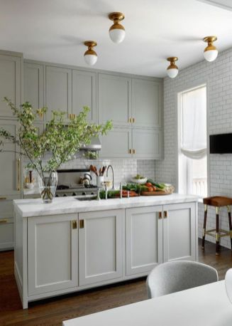Cool grey kitchen cabinet ideas 80