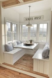 Cool kitchens design ideas with bay windows 12