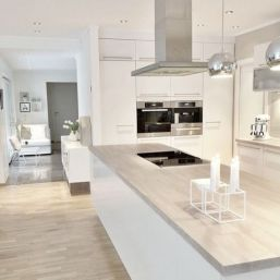 Cool kitchens design ideas with bay windows 13