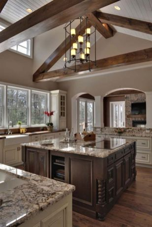 Cool kitchens design ideas with bay windows 35