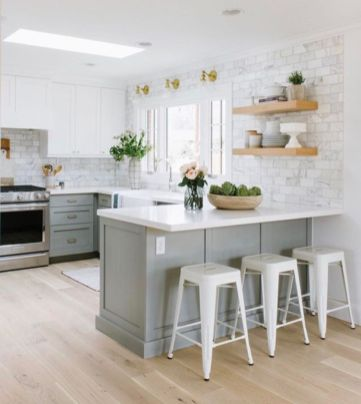 Cool kitchens design ideas with bay windows 36