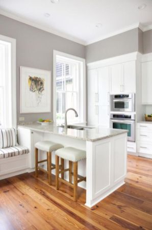 Cool kitchens design ideas with bay windows 50