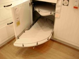 Corner kitchen cabinet storage 10