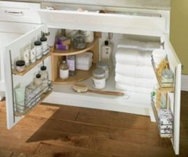 Corner kitchen cabinet storage 12