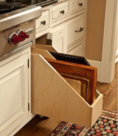 Corner kitchen cabinet storage 14