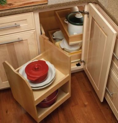 Corner kitchen cabinet storage 22
