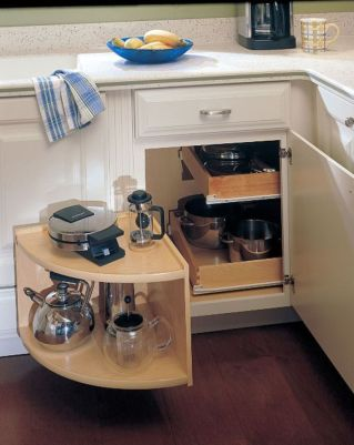 Corner kitchen cabinet storage 42