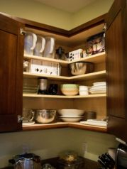Corner kitchen cabinet storage 52