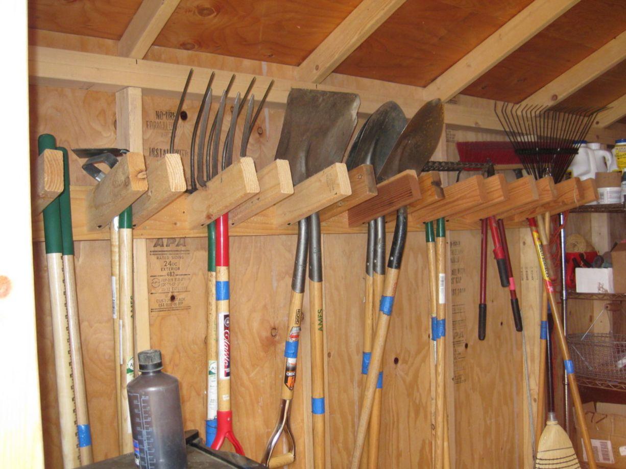 24 Creative Garden Tool Storage Ideas