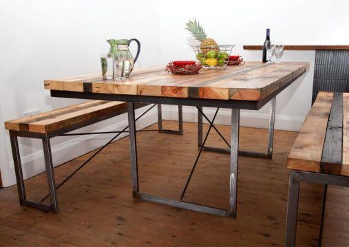 Creative metal and wood furniture 11