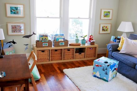 Creative toy storage ideas for living room 43