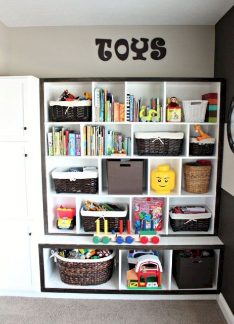 Creative toy storage ideas for living room 55