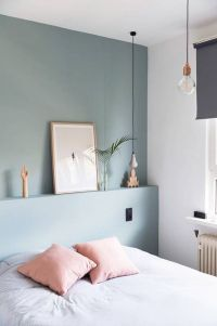 Cute bedroom design ideas with pink and green walls 21