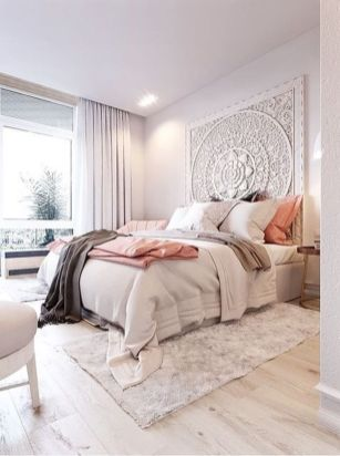 Cute bedroom design ideas with pink and green walls 43
