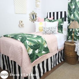 Cute bedroom design ideas with pink and green walls 72