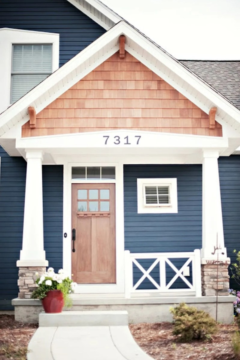 Exterior paint color ideas with red brick 10